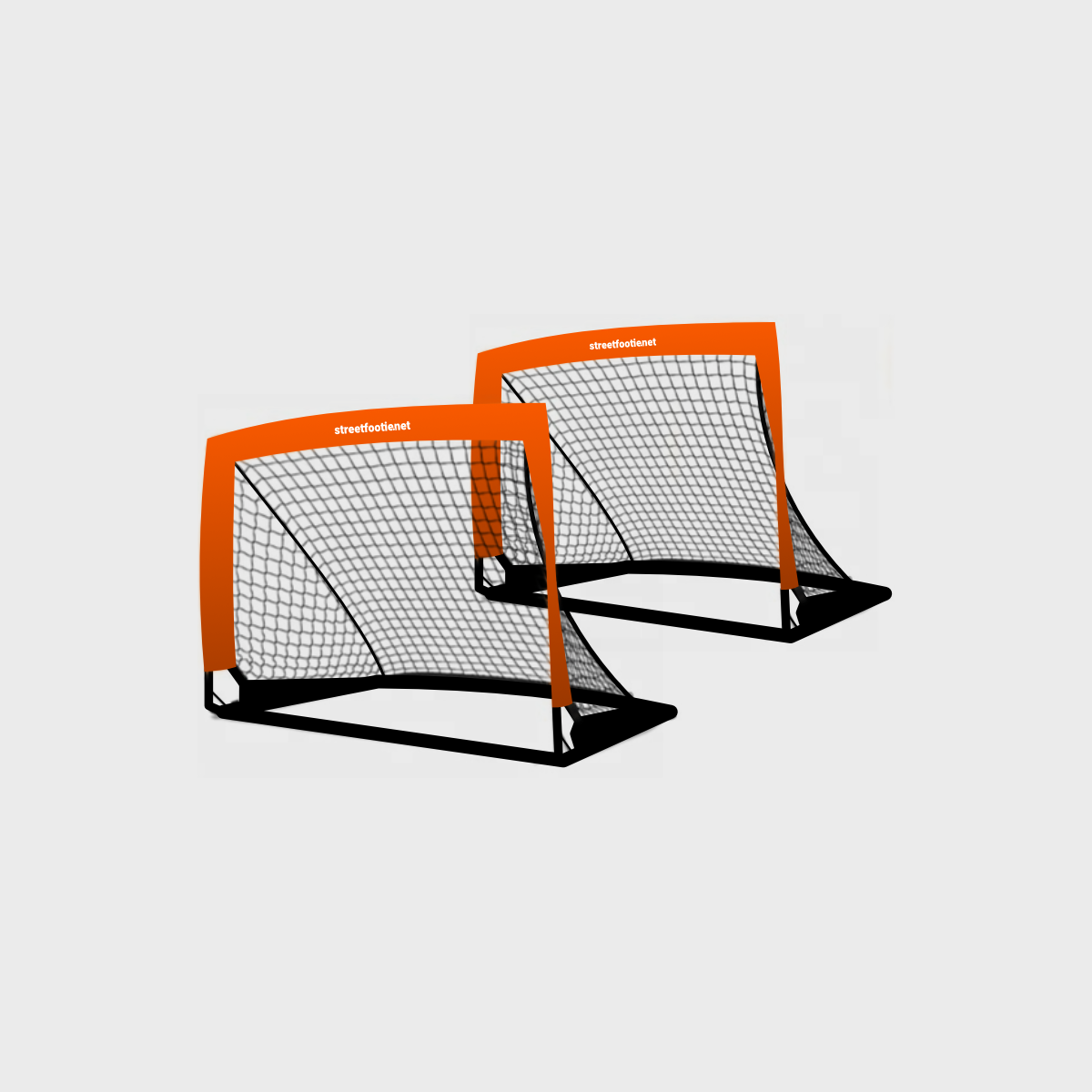 An image to showcase the Hi-Vis Street Soccer Popup Goal Set of 2. Links to the product page.